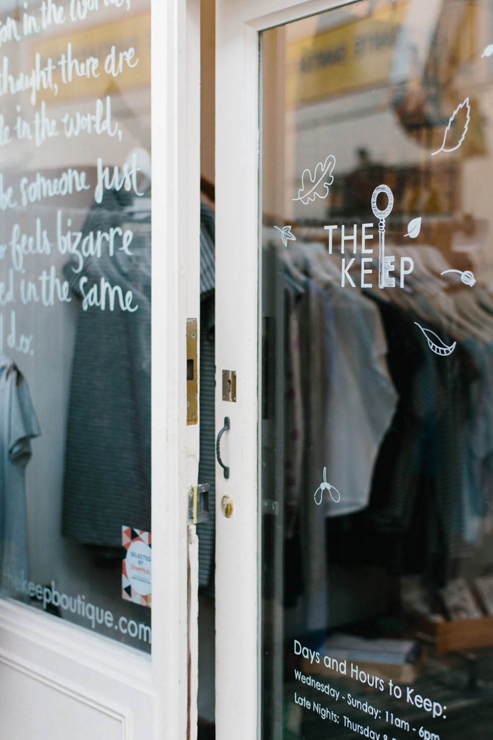 The Keep Boutique sustainable fashion store in Brixton Village, London