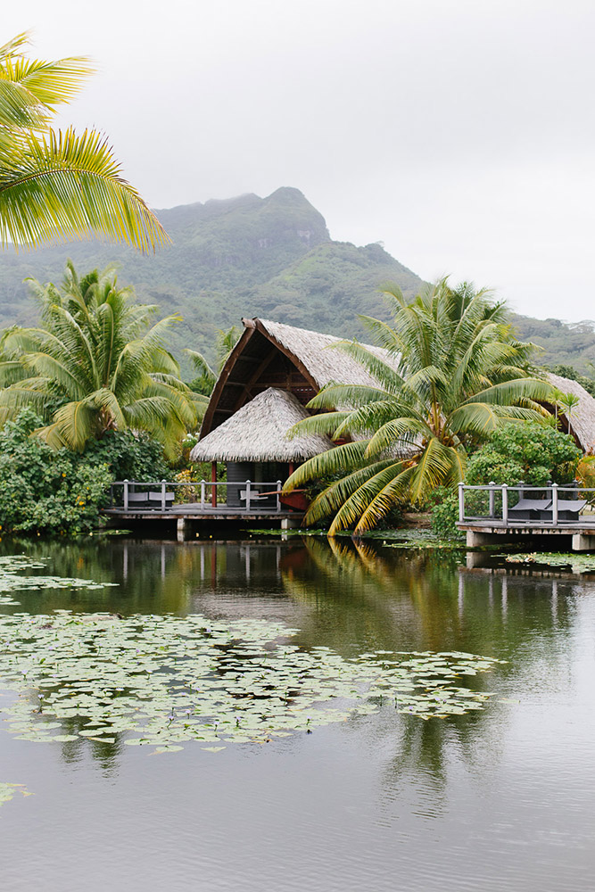 Bungalow style resort on Huahine