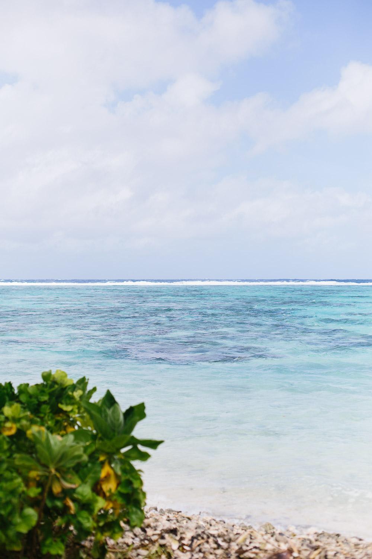 A blue lagoon off the coast of Huahine