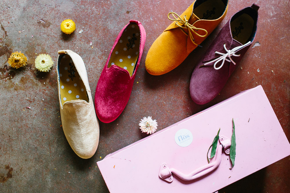 Shoes by Radical Yes alongside Flos Botanical Studio's toolbox