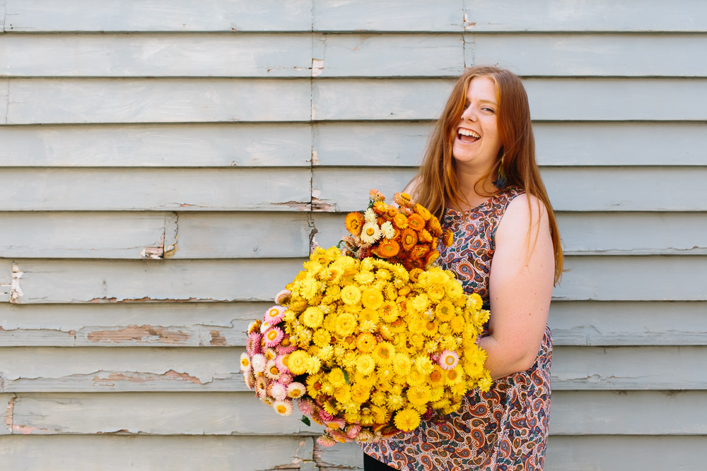Portrait of Melbourne florist Vivien Hollingsworth of Flos Botanical Studio