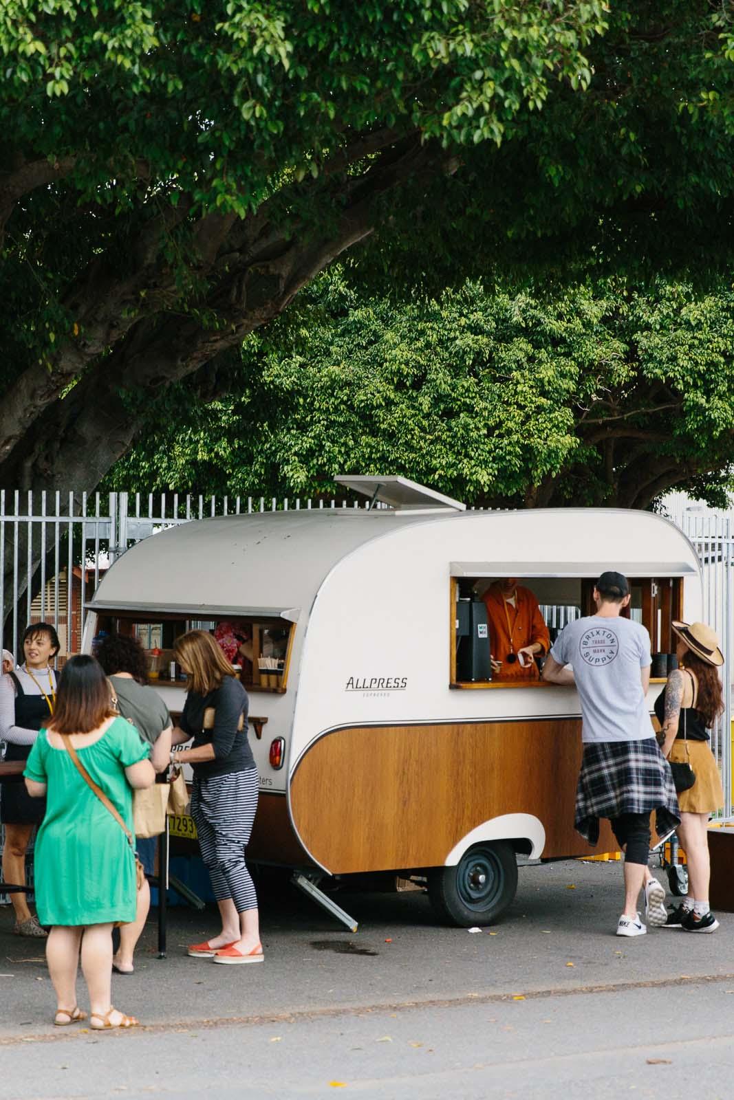 Allpress coffee cart