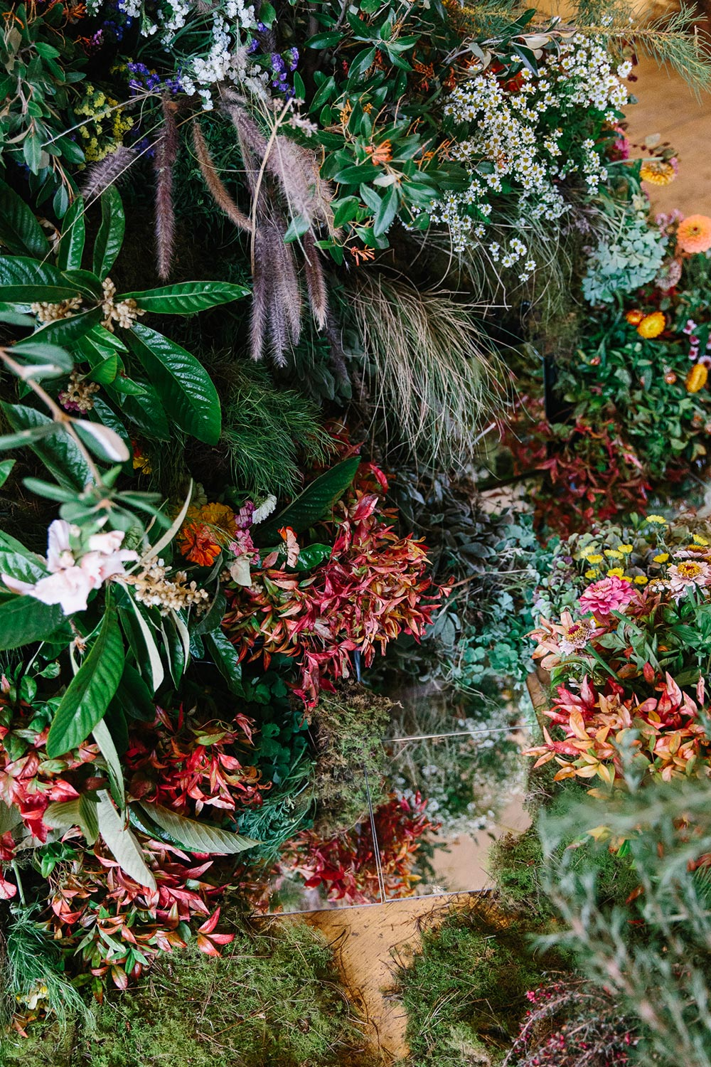 Large scale floral installation by Melbourne's leading florists