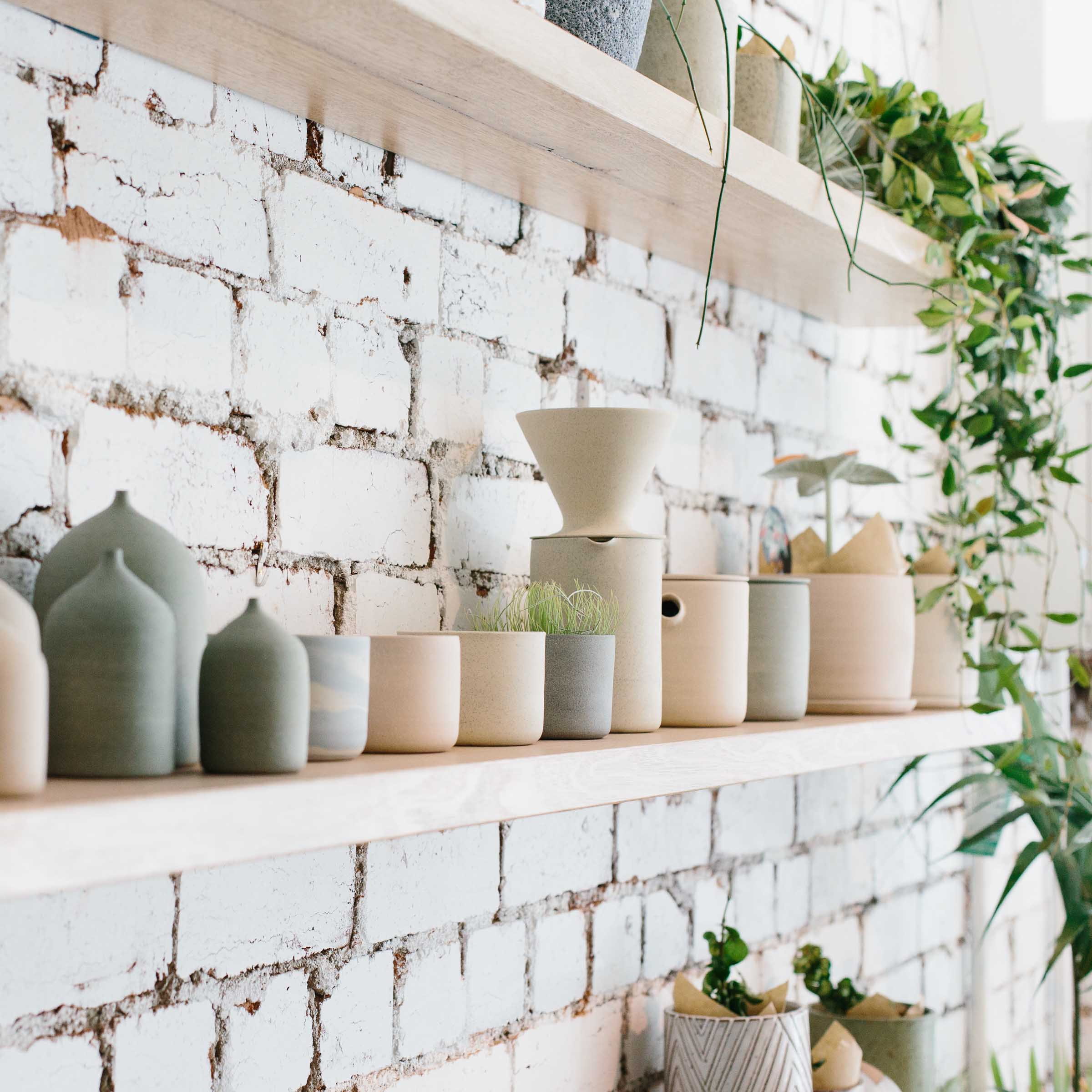 Bud vases and ceramic planters for sale