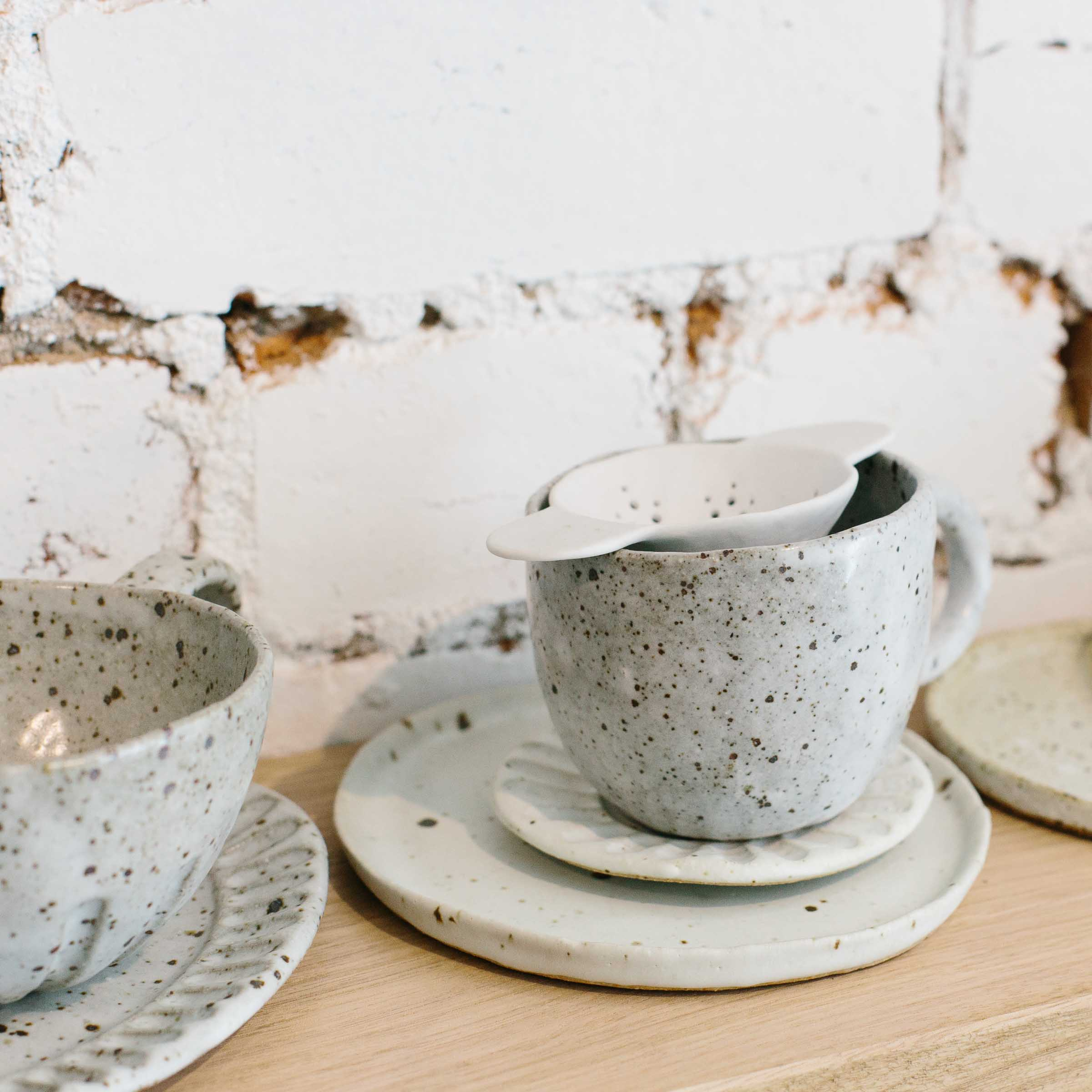 Cups and saucers by Katia Carletti