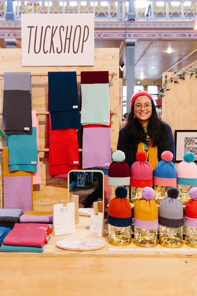Handmade knitted beanies and scarves by Tuck Shop Melbourne