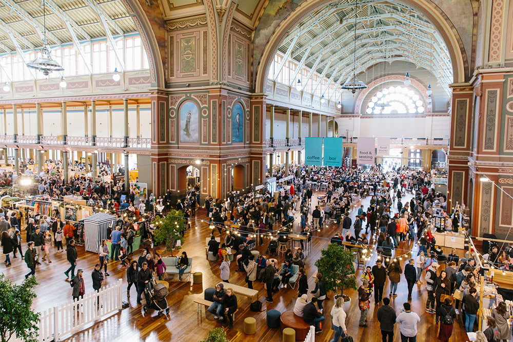 Royal Exhibition Building full of people