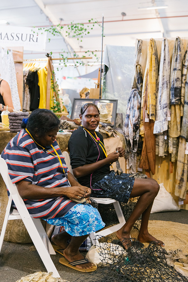 Indigenous program recipients hand-make products onsite