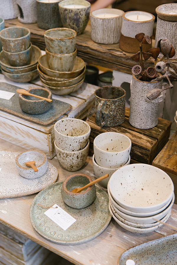 Local ceramics handmade in Brisbane on display at Finders Keepers