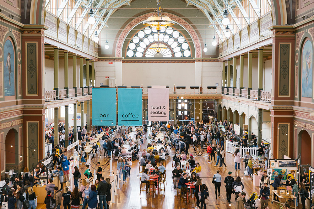 Royal Exhibition Buildling in Carlton Melbourne hosts the Finders Keepers Market