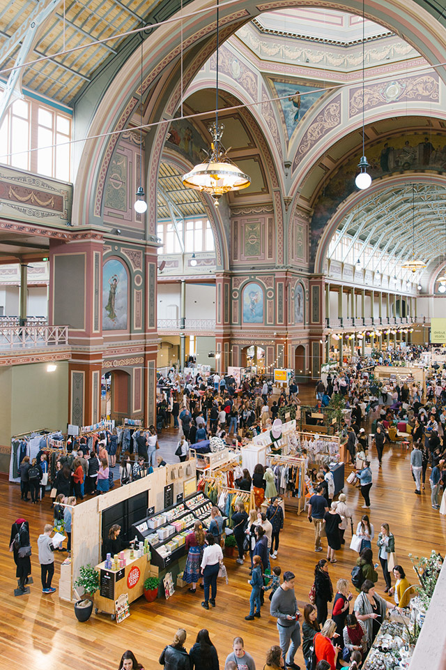 Royal Exhibition Building flooded with market customers for The Finders Keepers