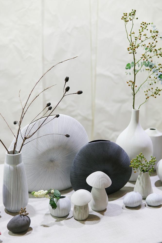 Curious Grace ceramics on display