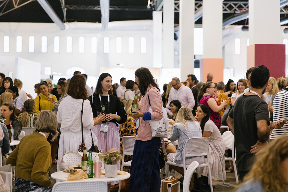 Exhibitors mingle and network together at opening night drinks at Life Instyle Sydney