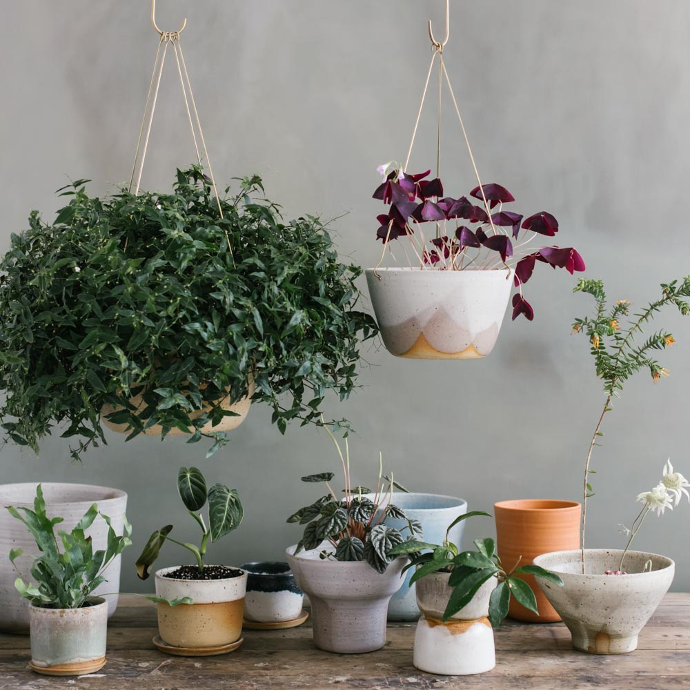 Leaf and Thread ceramic pots, planters and vases all handmade in Melbourne