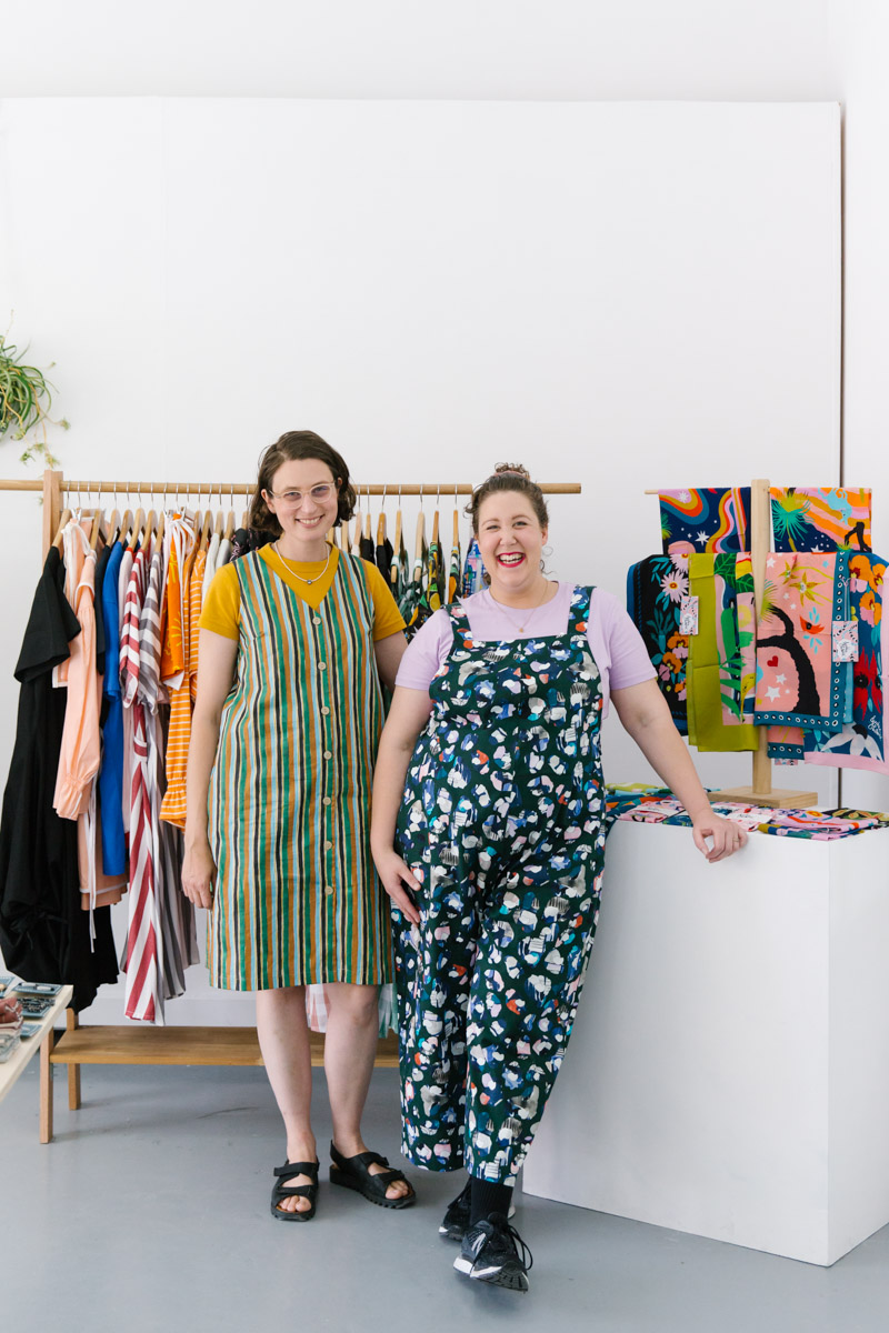 Portrait of Esther Sandler and Nat Pye, founders of PALS Pop Up in Melbourne