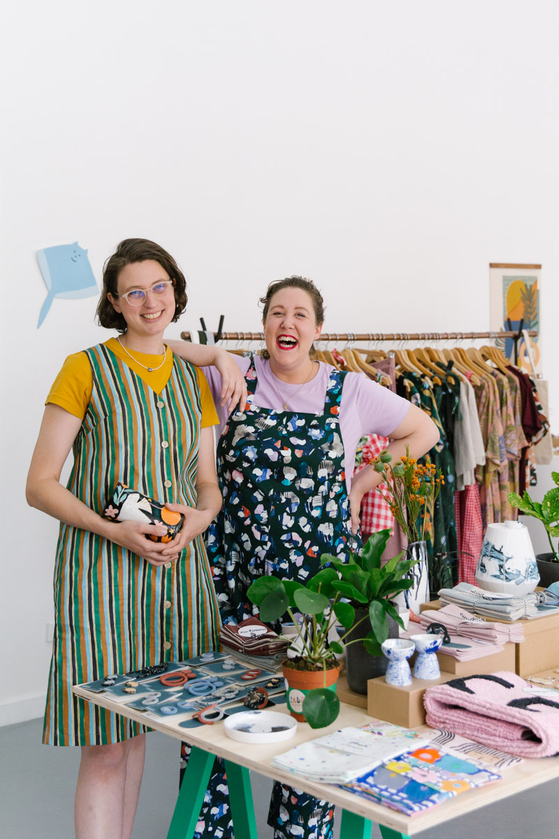 Esther Sandler and Nat Pye at PALS Pop Up Shop Melbourne