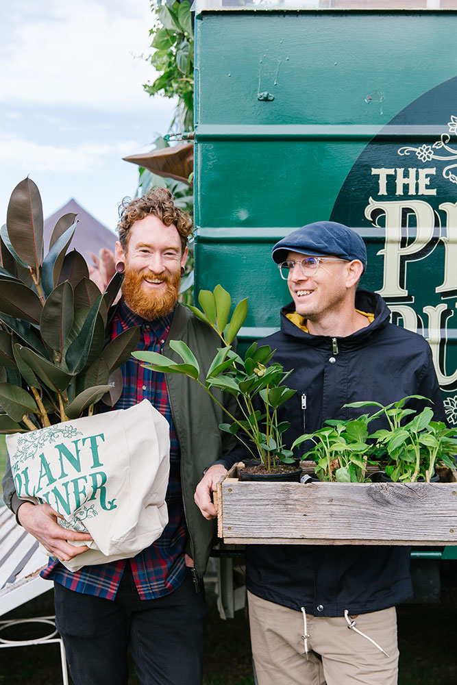 Portrait of The Plant Runner founders, indoor plants and products, Melbourne
