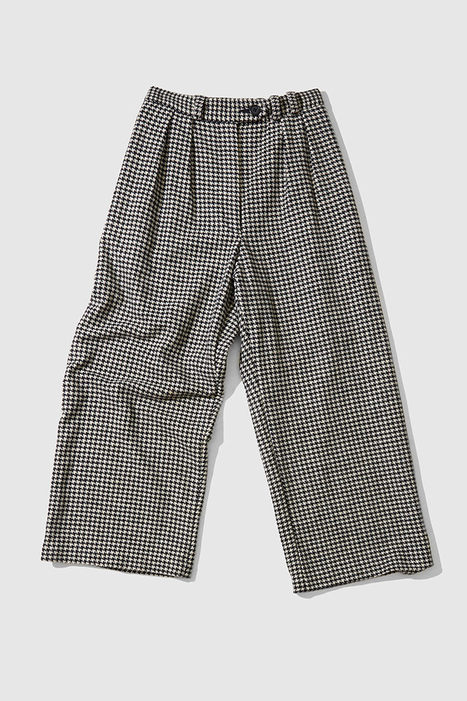Custom houndstooth tailored pants ethically made in Melbourne